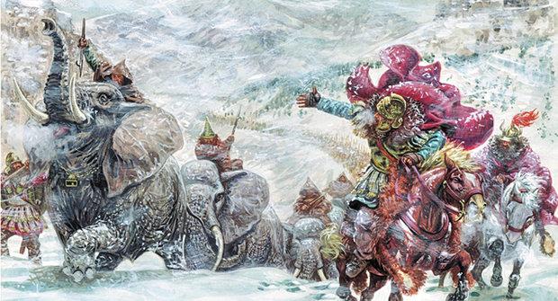 Sloni Na Snehu Kudy Presel Hannibal Alpy Abicko Cz