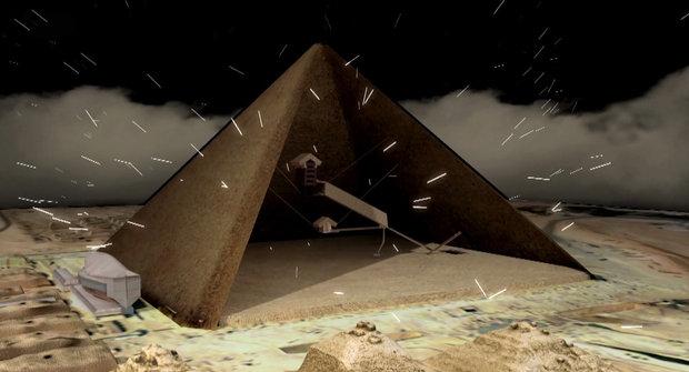 Kosmické částice luští záhadu pyramid
