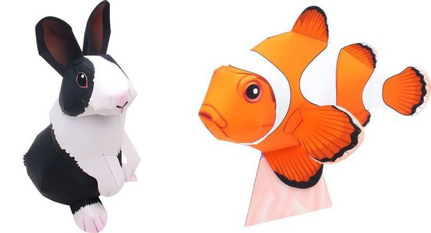 Vystřihovánky Canon: Ryba a králík