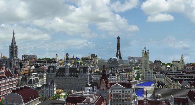 V Minecraftu postavíte cokoliv, podívejte se na Paříž z 19. století