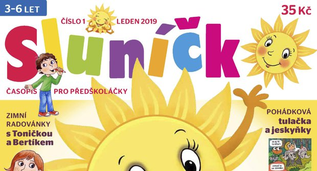 Nové číslo časopisu Sluníčko 1/2019