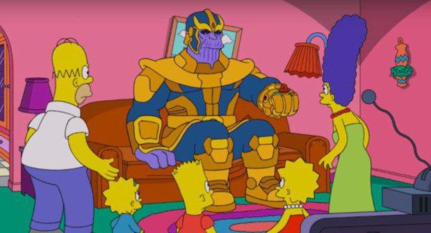 Tragédie Avengers: Infinity War postihla Simpsonovi