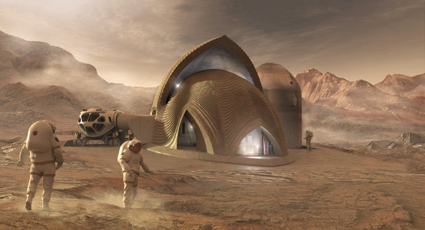 Vytištěné kolonie: Možnosti bydlení na Marsu