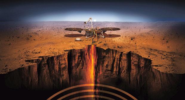 Sonda InSight: Měří teplotu, tep a reflexy Marsu