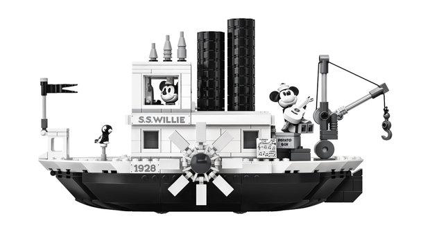 Černobílé Lego: Mickey Mouse na parníku