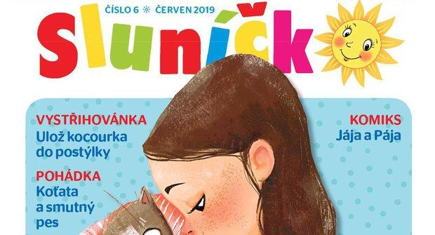Nové číslo časopisu Sluníčko 6/2019 patří kočičkám