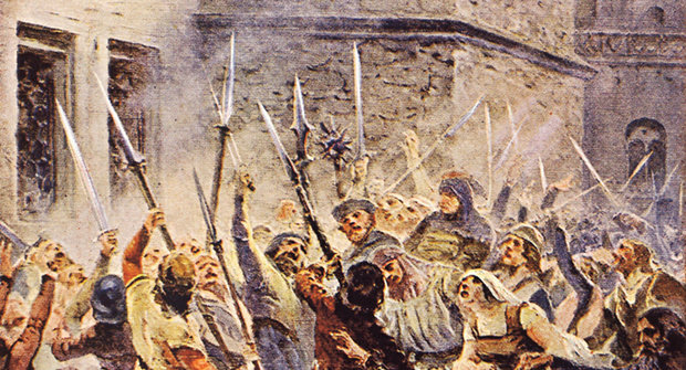 První pražská defenestrace: Začátek husitských válek