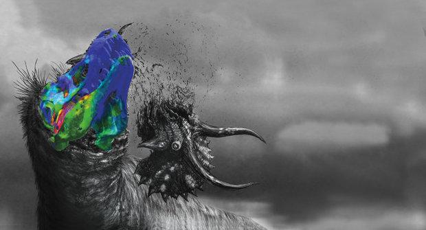 Lebka tyranosaura: Klimatizace i drtička kostí