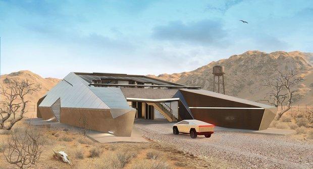 Šílená architektura nebo budoucnost? Dům pro majitele elektromobilu Cybertruck