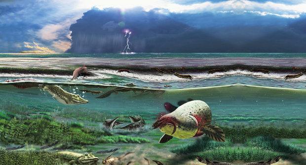 """Záhadný """"krokodýl"""" z devonu je nejstarším čtyřnožcem"""