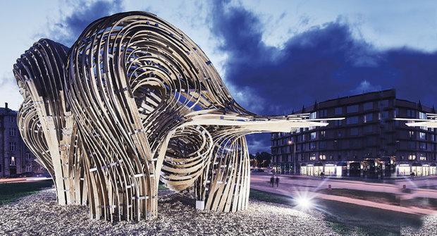 Steampunkový pavilon z 3D tiskárny vznikl díky rozšířené realitě