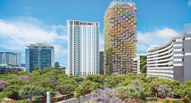 32 pater divočiny: Z betonu roste Duhový strom vysoký jako brněnský AZ Tower