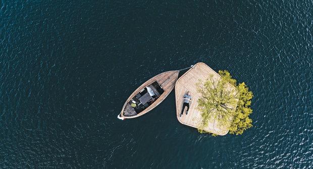 Park, který plave: Odpočiňtě si pod stromem na hladině moře!