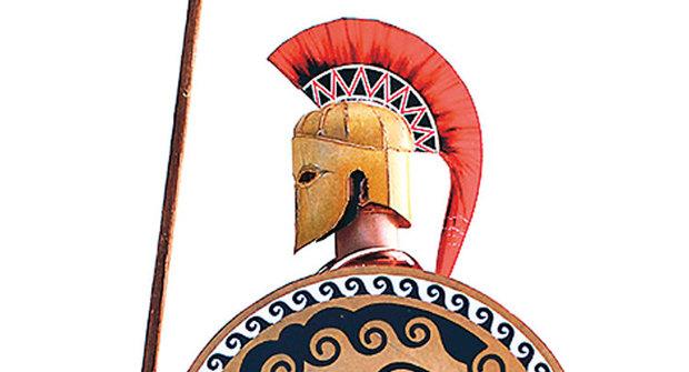Vystřihovánka ke stažení: Bonusové díly výstroje starořeckého bojovníka