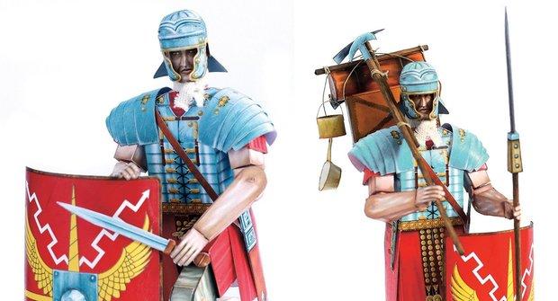 Vystřihovánka ke stažení: Římský legionář - bonusové díly výstroje