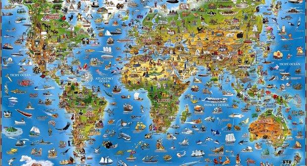 Soutěž časopisu Mateřídouška o knížky a mapu světa od nakladatelství Slovart