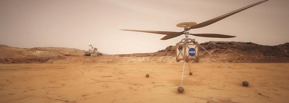 Roztoč to! NASA pošle na Mars vrtulník