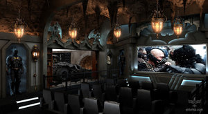 Na co šetřit? Soukromý kino sál v podobě Batmanovy jeskyně