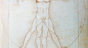 Vynálezy Leonarda Da Vinci: Postava v kruhu a ve čtverci