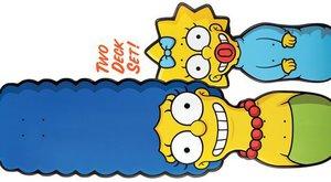Marge a Maggie se ksichtí na skatu