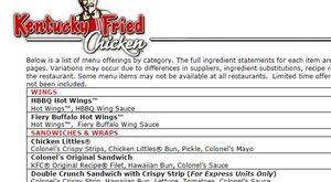 Co obsahuje americké KFC?