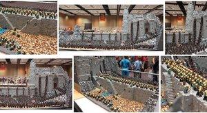Fantastická bitva z Pána prstenů postavená z Lega
