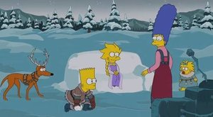 Simpsonovi si dělají srandu z Ledového království