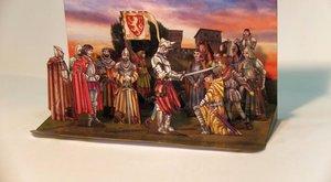 Dioráma: Pasování Karla na rytíře