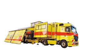 Kamion Golem: Ostrov bezpečí při hromadných neštěstích