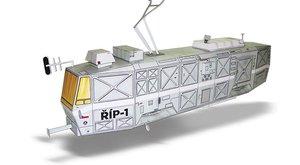 Vystřihovánky v ABC 7: Kosmická tramvaj  Říp-1, chalupa a mlýn