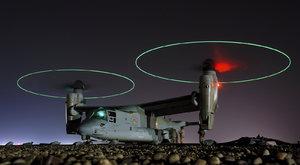 Jak se létá s konvertoplánem V-22 Osprey