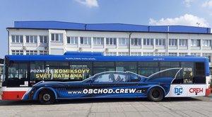 Batmanův autobus jezdí po Praze: Kde se svezeš?