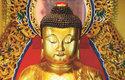 Socha Buddhy s typickým gestem ruky