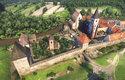Letecký pohled na Sázavský klášter z roku 1403. Všimněte si centrální čtvercové stavby (tzv. terakonchy) kostela sv. Kříže  vlevo. Dnes z něj uvidíte pouze základy