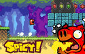 Spicy Piggy je hra pro mobily, ve které mlsné prasátko sbírá pálivé papričky