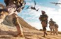 Obě verze dronu Vector i Scorpion při simulaci vojenské mise