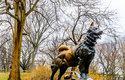 Jeden z hrdinů pes Balto má v newyorském Central Parku sochu
