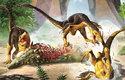 Ptakoještěr Hatzegopteryx ze skupiny azhdarchidů ve srovnání s 2,5metrovými dravými teropody