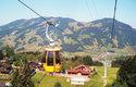 Trasa lanovky Stuckli Rondo, která je jedinou oběžnou lanovkou s otáčejícími se kabinami na světě