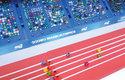 Kuličky na závodech letí dopředu velkou rychlostí