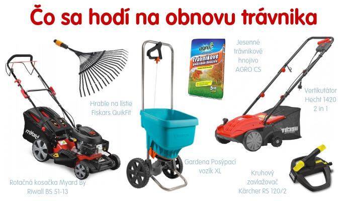 Skôr než sa pustíte do obnovy trávnika, overte si, že máte doma všetko potrebné náradie.