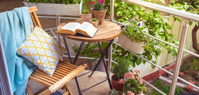 Vytvorte si oázu pokoja na balkóne