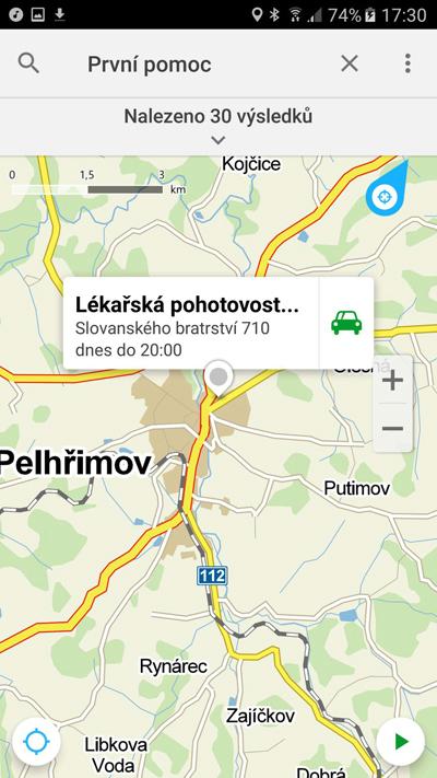 Mapy.cz přidávají červený kříž a pomohou s První pomocí