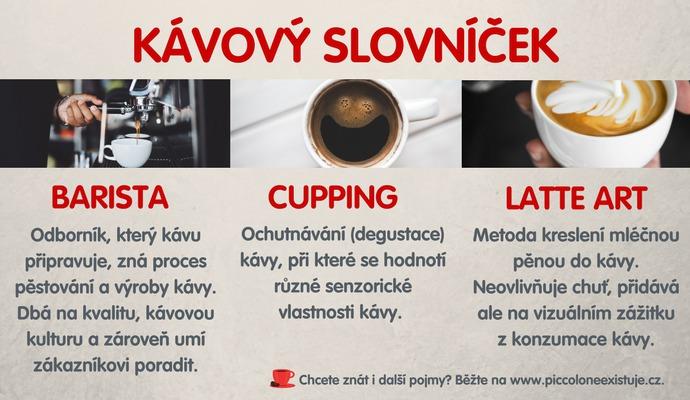 Začnete-li se o kávu zajímat, brzy se setkáte s odbornými pojmy. Tyto patří mezi nejčastější.