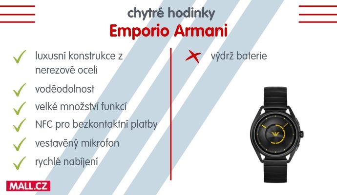 Chytré hodinky od Armaniho vynikají především svou všestranností.