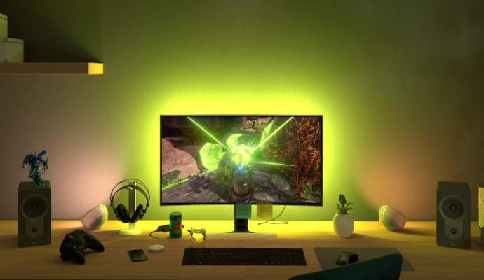 Chytré světlo se vejde klidně i za váš monitor a zabarví se automaticky podle obrazu.