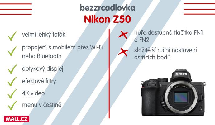 Bezzrcadlovka Nikon Z50 si nás získala svou skladností a lehkostí, ale také rozlišením fotek a množstvím funkcí.
