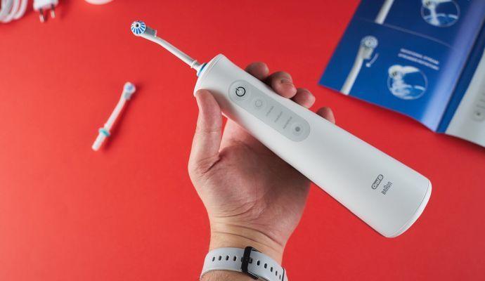 K ovládání zubní sprchy vám postačí tři tlačítka.