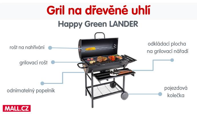 S grilem Happy Green Gril LANDER připravíte dokonale šťavnaté maso i křupavou grilovanou zeleninu.