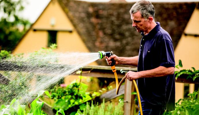 Dešťová voda je nejlepší na zalévání okrasných květin, trávníku, zeleninových záhonků i pokojovek.